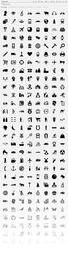 The Noun Project collects, organizes and adds to the highly recognizable symbols that form the world's visual language, so we may share them in a fun and meaningful way.  Free + Simple + Fun + Highest Quality