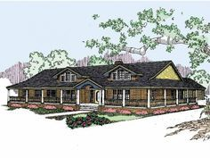 Farmhouse House Plan with 2415 Square Feet and 4 Bedrooms(s) from Dream Home Source | House Plan Code DHSW14421