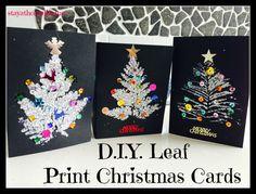 D.I.Y Leaf Print Christmas Cards