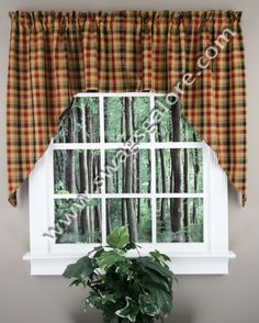 Swag Curtains For Kitchen Country Dining Tables 21 Best Jabot Images In 2019 Curtain Sets Grist Mill Pair By Park Designs Is A Popular Medium Scaled Plaid Features