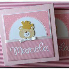 Diário + Caixa ursinha princesa