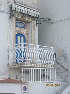 Not the Romeo and Juliet balcony, but cute!  Peschici, Gargano, Puglia
