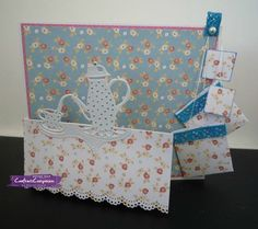 Card made using Crafter's Companion Die'sire Hobby Edge'ables - Time for Tea die. Designed by Sharon Goold #crafterscompanion