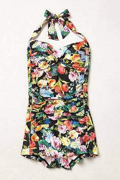 Seafolly Summer Garden Boyleg Maillot #anthropologie