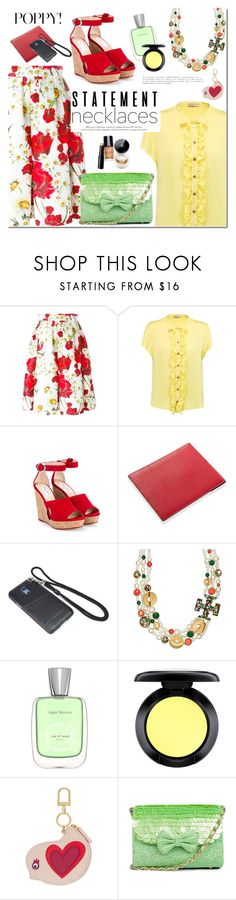 """Untitled #1858"" by mada-malureanu ❤ liked on Polyvore featuring Dolce&Gabbana, Emilio Pucci, Jimmy Choo, Samsung, Tory Burch, MAC Cosmetics, Leather, statementnecklaces and teski"