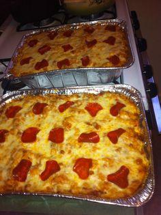Pizza Casserole with ground turkey, turkey sausage and turkey pepperoni