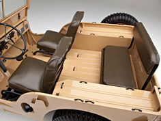 Rear seat of 1946 Willys-Overland Jeep CJ-2A.