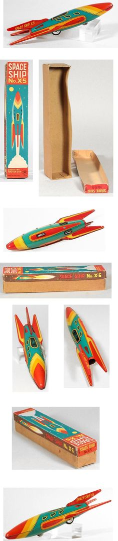 1952 Masudaya, Space Ship X5 in Original Box