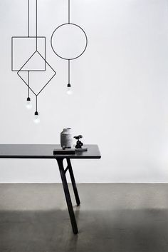 Designer Hannakaisa Pekkala won this year's Northern Lighting. 'Symmetry' is a series of three sculptural pendant lamps that come in different basic shapes: square, circle and diamond.
