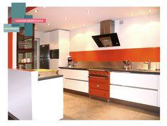 cuisine avec piano lacanche   B_indoor   www.b-indoor.com/ #decoration #design #agencement #contemporain #art #mobilierdesign #amenagement #plans #cuisine #kitchen #plandetravail #credence #electromenager #parquet #carrelage #faience #grescerame
