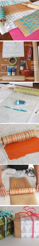 DIY imprint rolling pin