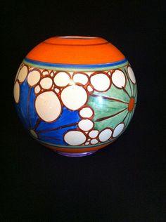 Broth, a superb Globe Shaped Vase: Clarice Cliff & Art Deco Ceramics Dealers | London