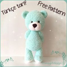Watch This Video Incredible Crochet a Bear Ideas. Cutest Crochet a Bear Ideas. Crochet Animal Patterns, Crochet Patterns Amigurumi, Baby Knitting Patterns, Crochet Animals, Crochet Dolls, Bear Patterns, Knitting Toys, Amigurumi Giraffe, Amigurumi Free