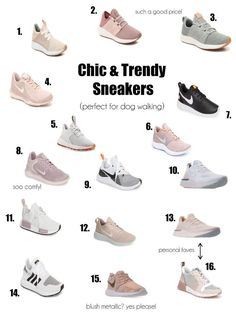 Stylish and Practical Dog Walking Shoes Chic & Trendy Sneakers - perfect for dog walking/hiking Walking Sneakers For Women, Stylish Walking Shoes, Best Walking Shoes, Dog Walking, Womens Casual Sneakers, Cute Sneakers For Women, Sneakers Fashion, Fashion Shoes, Mom Fashion