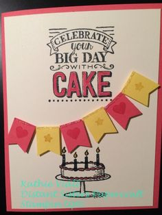 Big Day Stamp Set; Sale-a-bration; Stampin' Up!; I like the idea of using the little banner punch.