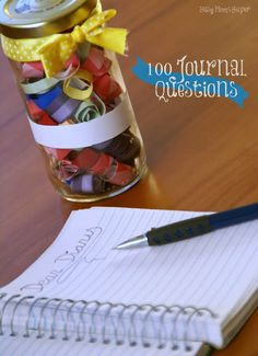 Do you journal? Here are 100 Journal Questions via Busy Mom's Helper
