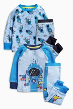 Buy Blue I Am Spaceman Pyjamas Two Pack (9mths-8yrs) from the Next UK online shop