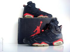 Sunshining7 - Nike Air Jordan VI - 1991 - OG Black Infrared III by sunshining7, via Flickr Air Jordan Vi, Trainer Shoes, Trainers, Nike Air, Kicks, Objects, Basket, Sneakers Nike, Running