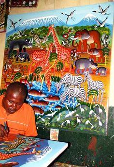Arte TINGA TINGA DE TANZANIA.