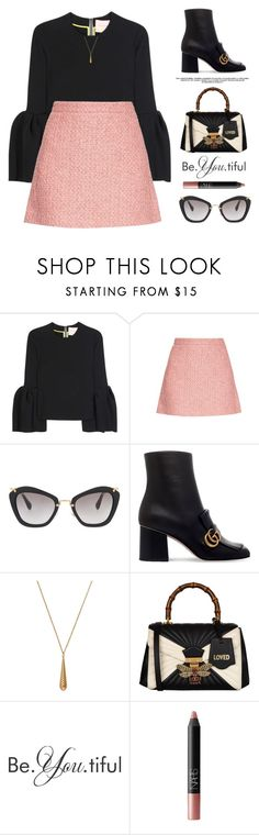 """Be.You.tiful"" by yexyka ❤ liked on Polyvore featuring Roksanda, Gucci, Miu Miu, WALL, NARS Cosmetics and ootd"