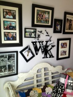 Create Family Letter for your Photo Wall with Me and My Peeps decals from #acmoore stores