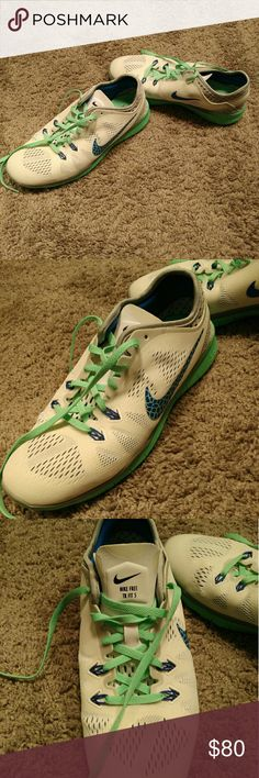 Nike Free Running Shoes Gently worn. Still bright white shoes. Wear is shown in 4th picture. Nike Shoes Athletic Shoes