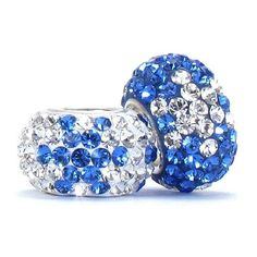Set of 2 - Bella Fascini Blue & Clear Snowflake / Star / Fireworks Crystal Pave Sparkle Bling - Special Cole Collection Design - Solid .925 Sterling Silver Core European Charm Bead Made with Authentic Swarovski Crystals - Compatible Brand Bracelets : Authentic Pandora, Chamilia, Moress, Troll, Ohm, Zable, Biagi, Kay's Charmed Memories, Kohl's, Persona & more! Bella Fascini Beads,http://www.amazon.com/dp/B00F572TFM/ref=cm_sw_r_pi_dp_OYDSsb15N7TP9Z1M