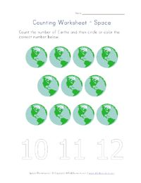 Earth Counting Printable