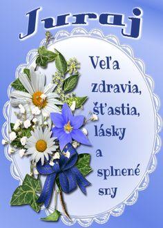 Juraj Veľa zdravia, šťastia, lásky a splnené sny Lets Celebrate, Hanukkah, Decorative Plates, Cards, Blog, Advent, Smoothie, Album, Smoothies