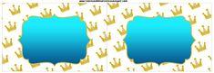 Coroa e Azul - Kit Completo com molduras para convites, rótulos para guloseimas…