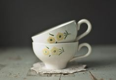 dandelion teacups.