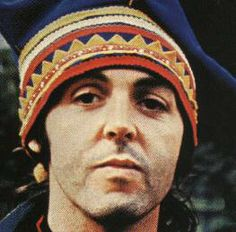 Picture of Paul McCartney in a traditional Saami hat.