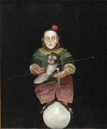 Dwarf with Monkey - Stefan Caltia - Magic Realism, 2005 Op Art, Magic Realism, Famous Words, Art Database, Riga, Rhode Island, Short Film, Pet Birds, Puppets