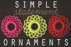 Crocheted ornaments... Wanna make BIG ...need big ornaments for tree!!
