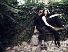 Bộ ảnh chụp cho tạp chí Harper's Bazaar của Trần Vỹ Đình và Địch Lệ Nhiệt Ba nhận được nhiều bình luận khen ngợi của netizen.