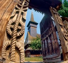 Maramures (Northern Romania) Traditional Carved Gate