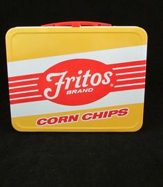 Vintage 1975 Frito-Lays Fritos Corn Chips Lunch Box King-Seeley Thermos Company #fritos #vintage #lunchbox