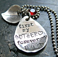 Mother and Daughter Necklace  Mothers Gift  by yourcharmedlife, $55.00