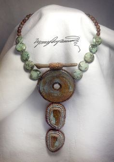 https://www.etsy.com/shop/LynnParpard?ref=pr_shop_more One of a Kind ART PIece made one bead at a time This could be your statement piece