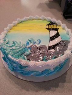 Cupcakes, Cupcake Cakes, Shoe Cakes, Ocean Birthday Cakes, Lighthouse Cake, Cake Works, Nautical Cake, Cake Writing, Beach Cakes