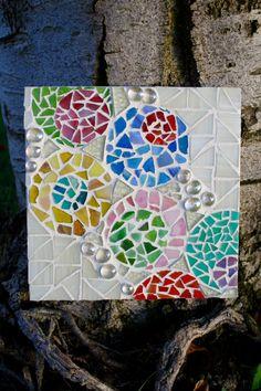 Bubble Mosaic Art Circle Mosaic Art Mosaic by GoldenGirlStudios