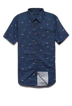 Shark Print Cotton Shirt | 21 MEN We can't wait for shark week 2014 #21Men #style #menswear