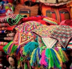 Ornately beaded head pieces- you can take one home!  Visit a Peru market. info@inkasitesadventures.com