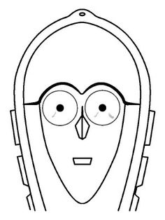 Masks coloring page 22