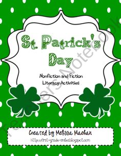 St. Patricks Day Nonfiction and Fiction Literacy Activities product from Melissa-Machan on TeachersNotebook.com
