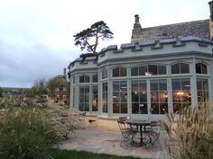 The Pig On The Beach. A beautiful manor on Studland Bay, Dorset. This is the conservatory.