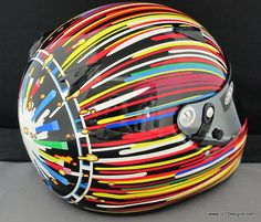 Custom helmet by JLF Designs by IZOD IndyCar Series, Koons BMW Art Car Graphics