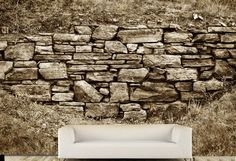 old stone brick wall background in sepia Old Brick Wall, Old Wall, Brick Wall Background, Textured Background, Interior Wallpaper, Digital Backgrounds, Kingsman, Old Stone, Vinyl Art