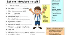 Introducing yourself to strangers can be tricky because what you say depends on the context, situation. Below is the list of common phrases of how to introduce yourself with confidence in English you should learn. English Verbs, Learn English Grammar, English Phrases, English Language Learning, English Lessons, English Vocabulary, Teaching English, English Teachers, English Classroom