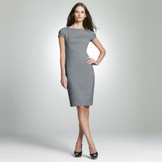 A great dress to wear from Boardroom to dinner. Pair with a JNY cardigan.    . JNY Collection  . 64% Polyester, 34% Viscose, 2% Spandex  . Approx. Length is 39 in.  . Approx. Sweep is 36 in.  . Zipper  . Cap Sleeve  . Machine Wash  . Imported  . Style Code: 10364602